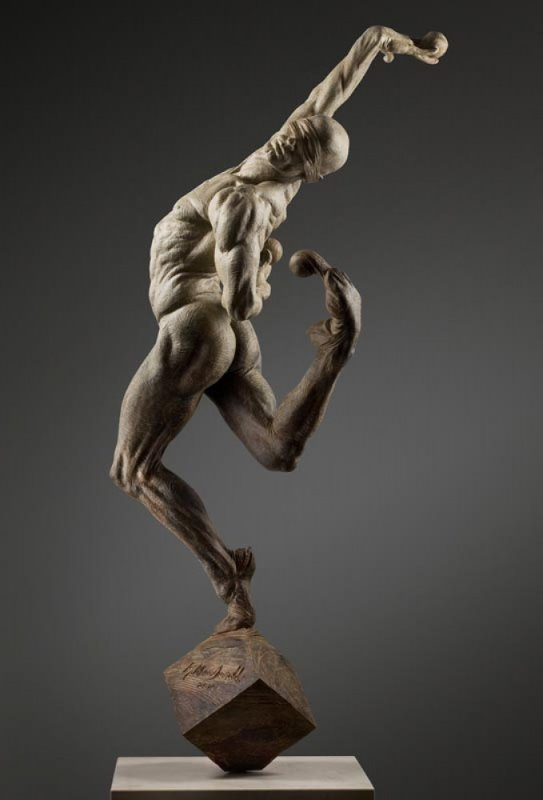 Leap of Faith Bronze 1/3 Life Size Sculpture 2009 35 in