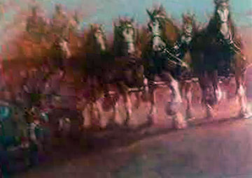 Anhauser Busch Clydesdales AP 1989 Limited Edition Print - Richard MacDonald