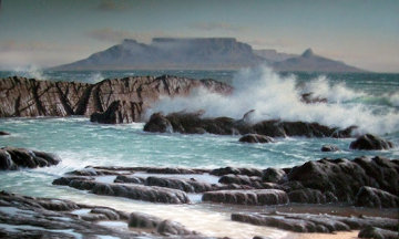 Table Mountain 2002 Original Painting - Rob MacIntosh