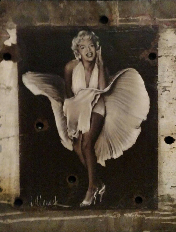 Seven Year Itch Hollywood Sign Painting 45x38