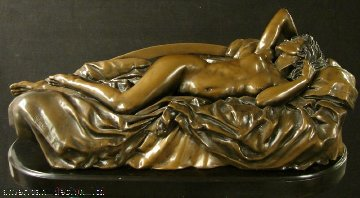 Tranquility Bronze Sculpture 1994 65x26 Sculpture - Bill Mack