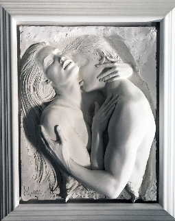 Embrace Bonded Sand Sculpture 1990 35x43 Sculpture - Bill Mack