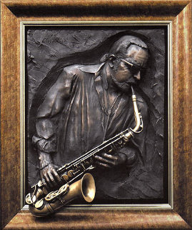Jazzman Bonded Bronze Sculpture 2005 Sculpture - Bill Mack