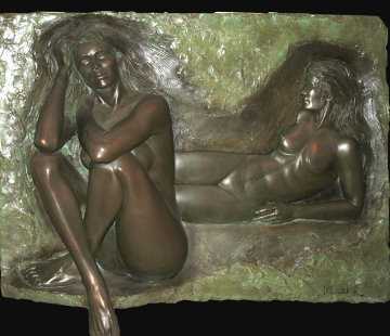 Reflection Bonded Bronze Sculpture 1987 Sculpture - Bill Mack