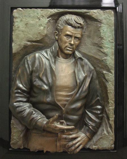 Rebel James Dean Bonded Bronze Sculpture By Bill Mack