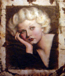 Jean Harlow Original Hollywood Sign 2005 53x45 Original Painting - Bill Mack