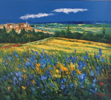 Tuscan Village  2000 27x30 Original Painting -  Madjid