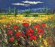 Tuscan Countryside With Poppies 2000 32x36 0
