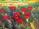 Tuscan Countryside With Poppies 2000 32x36 2