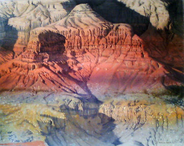 Grand Canyon 1982 58x46 Original Painting - Merrill Mahaffey