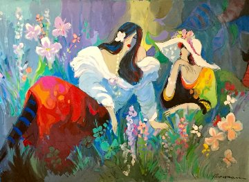 Central Park 1991 57x79 New York Original Painting - Isaac Maimon