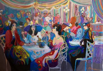 Enchanted 1993 55x79 Original Painting - Isaac Maimon