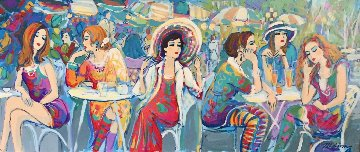 Rumour Has It... 2000 24x48 Original Painting - Isaac Maimon