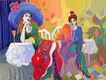 Le Brasserie 30x40 Original Painting - Isaac Maimon