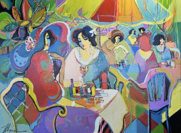 Paris in Spring Time 42x52 Original Painting - Isaac Maimon