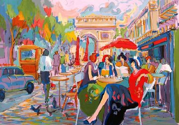 Bus Stop Cafe 1998 Limited Edition Print - Isaac Maimon