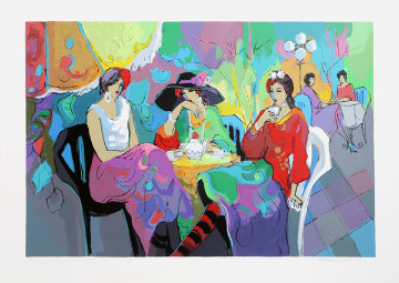 Park Garden Cafe Limited Edition Print - Isaac Maimon