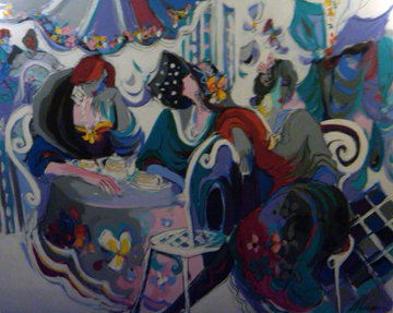Papillion 60x80 Original Painting - Isaac Maimon