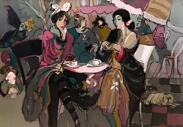 Lancelot And Ladies 52x42 Original Painting - Isaac Maimon