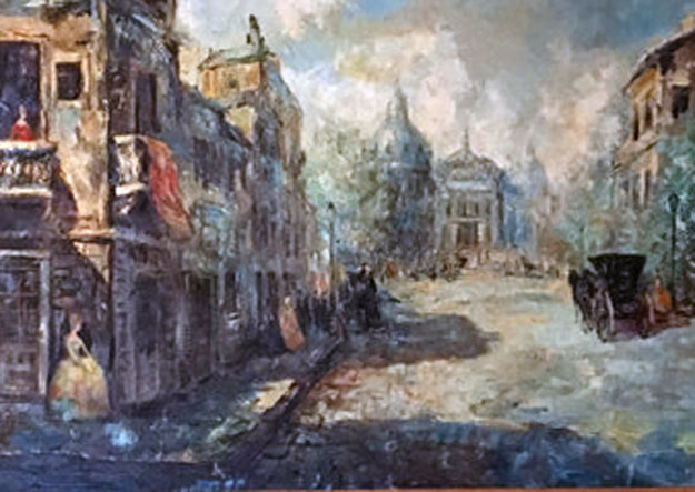 Untitled (Paris Scene) 33x57