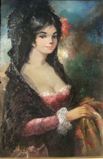 Spanish Lady 36x24 Original Painting - Americo Makk