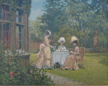 Garden Party 24x29 Original Painting - Alan Maley