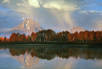 September Showers-Oxbow Bend 2003 Panorama - Thomas Mangelsen