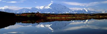 Reflections of Denali AP Panorama - Thomas Mangelsen