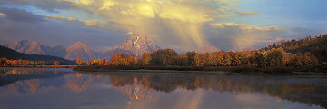 September Showers, Oxbow Bend  Panorama - Thomas Mangelsen
