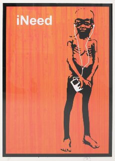 Ineed (Orange) Unique Screenprint 2006 AP Limited Edition Print -  Mantis