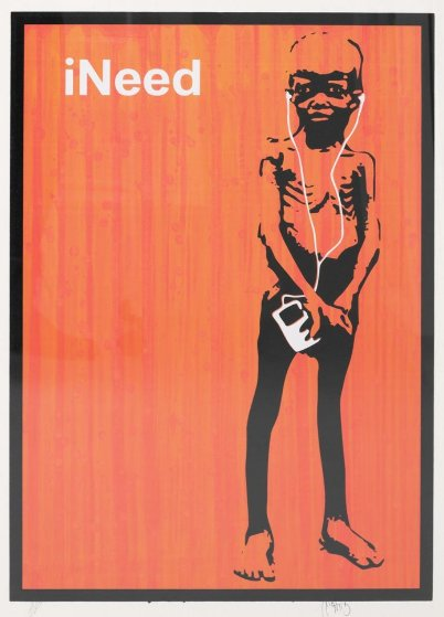 Ineed (Orange) Unique Screenprint 2006 AP