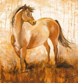 Wild Mustang Forest 2009 Limited Edition Print - Marcia Baldwin