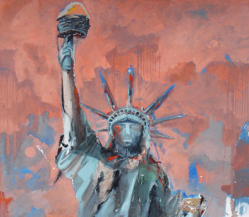 Hard Knox For Lady Liberty 2007 74x50 Original Painting - Marcus Antonius Jansen