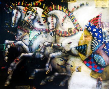 Untitled Painting (Horses) 1999 46x36 Works on Paper (not prints) - Csaba Markus