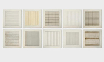 Paintings And Drawings Portfolio 1990 (Set of 10)  Limited Edition Print - Agnes Bernice Martin