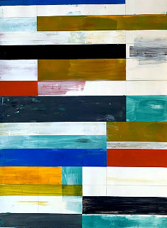 Abstract Composition 9 2013 37x29 Original Painting - Lloyd Martin