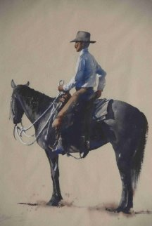 Ready to Ride Watercolor Watercolor - William Mathews