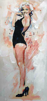 Marilyn Monroe Black Swimsuit Limited Edition Print - Sid Maurer