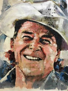 Ronald Reagan 40x30 Original Painting - Sid Maurer