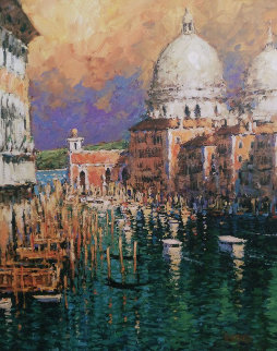 Busy on the Grand Canal Embellished 2006 Limited Edition Print - Marko Mavrovich
