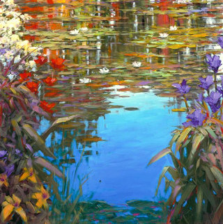 Giverny Spring 2015 Embellished Limited Edition Print - Marko Mavrovich