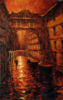 Silent Canal 2005 Embellished Limited Edition Print - Marko Mavrovich