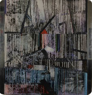 North Site 1984 36x31 Original Painting - Paul Maxwell