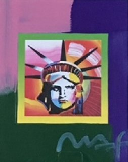 Liberty Head II on Blends  American Suite Unique 2006 23x21 Works on Paper (not prints) - Peter Max