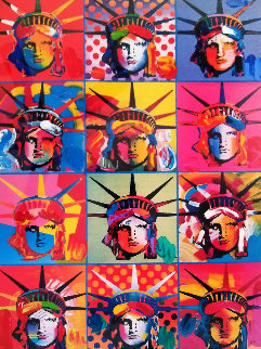 Liberty And Justice For All  2001 Unique Works on Paper (not prints) - Peter Max