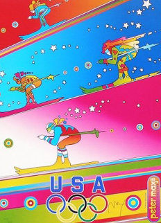 Olympics, Torino 2006 Limited Edition Print - Peter Max