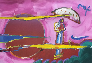 New Moon Unique 2006 39x51 Works on Paper (not prints) - Peter Max