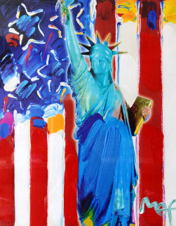 United We Stand II Unique 2005 24x28 Works on Paper (not prints) - Peter Max