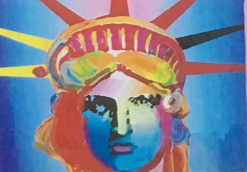 Liberty Head Collage 1997 8x10 Works on Paper (not prints) by Peter Max