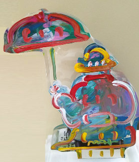 Umbrella Man Acrylic Sculpture 2013 12 in Sculpture - Peter Max
